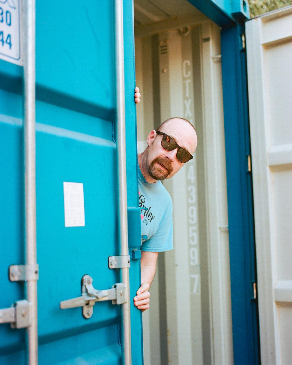 Fort Punta Christo Mr Scruff backstage At Dimensions & Outlook Festival. Events, Festival Pula, Croatia, Music Photography. Photo taken by Rob Jones @hirobjones