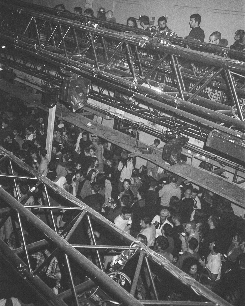 Crowd at Printworks London Glitterbox Defected Records. Events, Music Photography. Photo taken by Rob Jones @hirobjones 35mm film