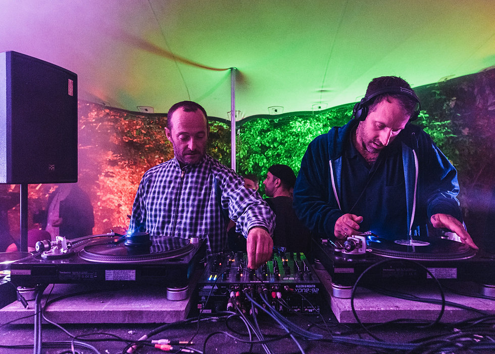 Craig Richards b2b Nicolas Lutz in the Walled Garden stage At Gottwood Festival. Events, Festival Anglesey, Music Photography. Photo taken by Rob Jones @hirobjones