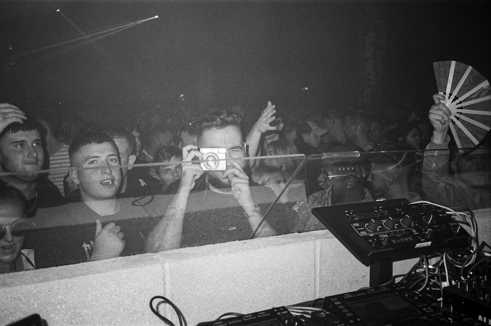 At Warehouse Project Depot Mayfield Manchester. Events, Music Photography. Photo taken by Rob Jones @hirobjones on 35mm film