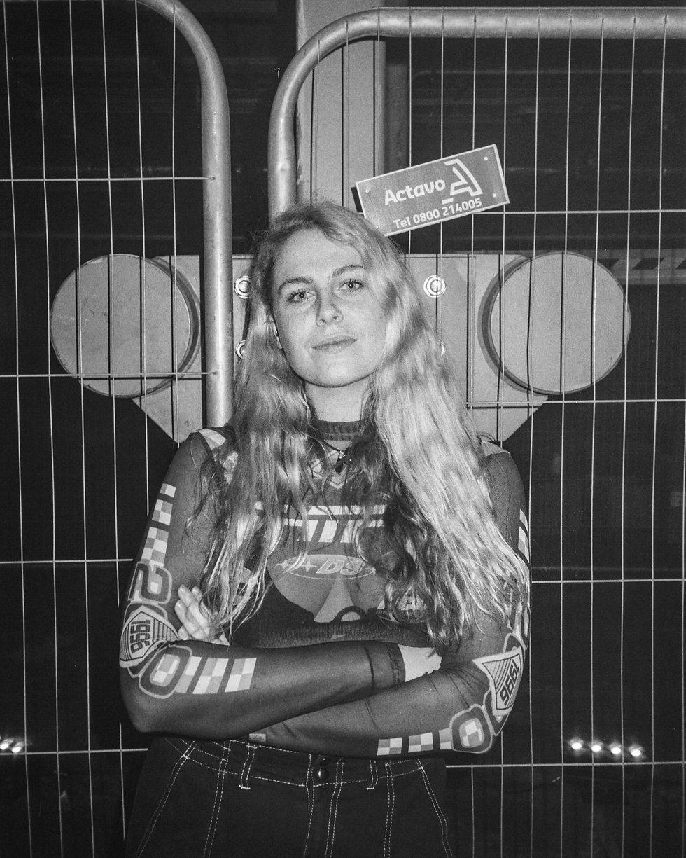 Sally C backstage At Printworks London. Events, Music Photography. Photo taken by Rob Jones @hirobjones 35mm film