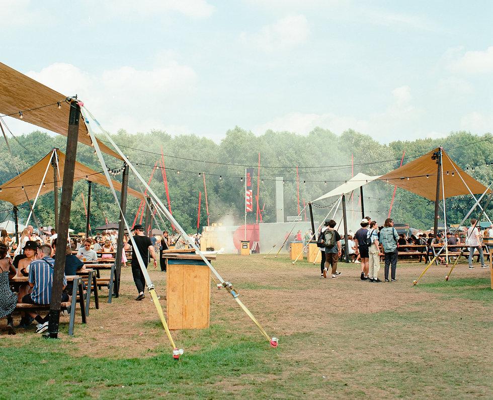 Food area At Dekmantel Festival. Events, Festival Amsterdam, Music Photography. Photo taken by Rob Jones @hirobjones