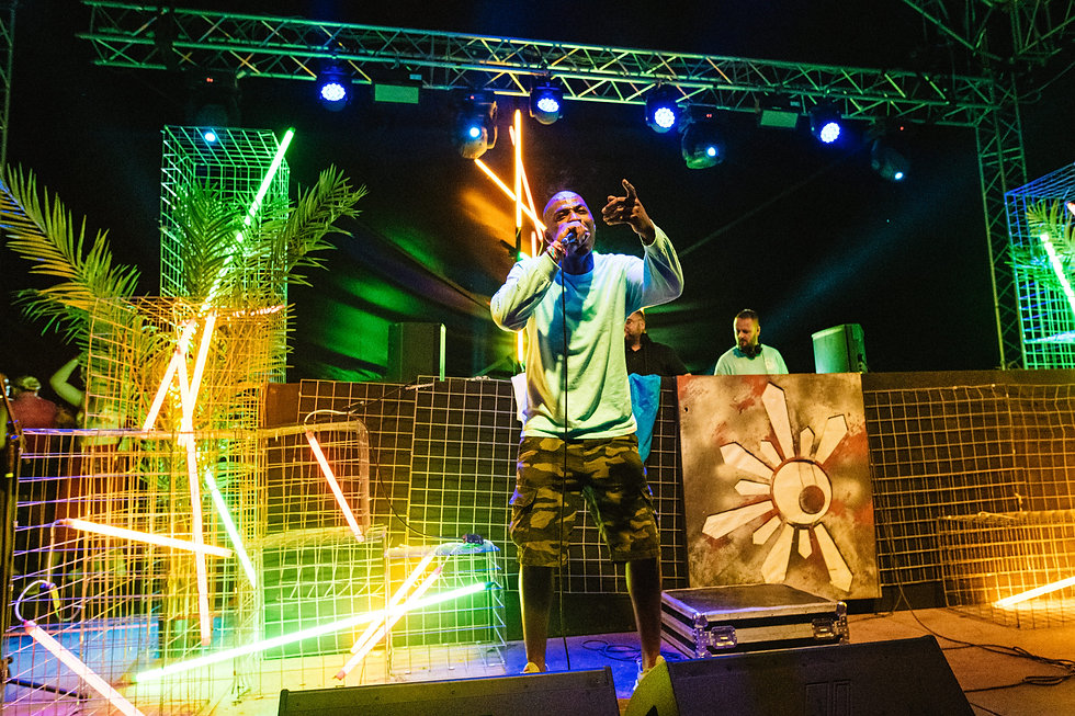 Fort Punta Christo MC Fox & Levelz on the Garden stage At Dimensions & Outlook Festival. Events, Festival Pula, Croatia, Music Photography. Photo taken by Rob Jones @hirobjones