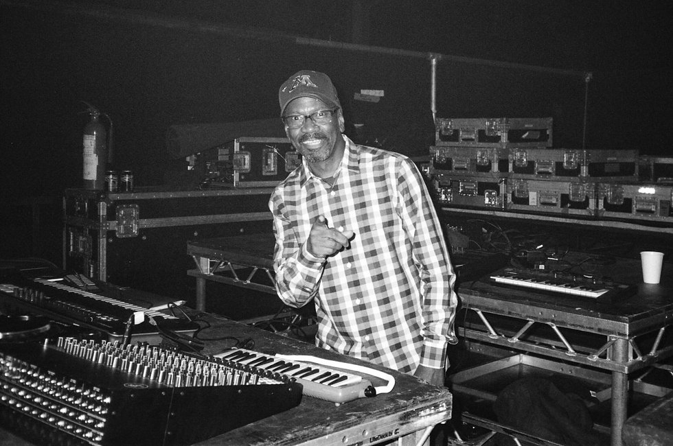 Larry Heard DJ At Warehouse Project Depot Mayfield Manchester. Events, Music Photography. Photo taken by Rob Jones @hirobjones on 35mm film