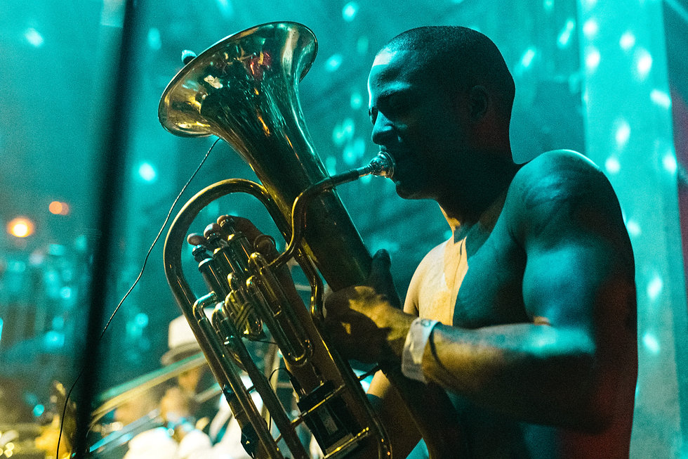 Hypnotic Brass Ensemble At Jazz Cafe, Camden, London. Events, Live Music, Music Photography. Photo taken by Rob Jones @hirobjones