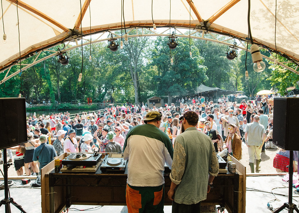Krywald & Farrer on the Lawn stage At Gottwood Festival. Events, Festival Anglesey, Music Photography. Photo taken by Rob Jones @hirobjones