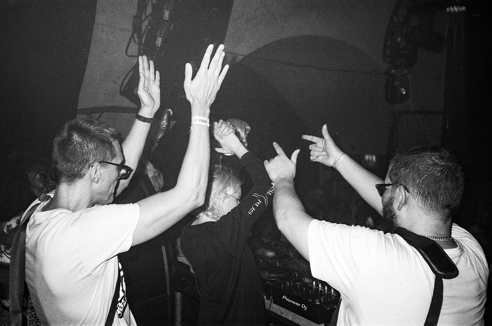 HAAi DJ Horse Meat Disco At Warehouse Project Depot Mayfield Manchester. Events, Music Photography. Photo taken by Rob Jones @hirobjones on 35mm film