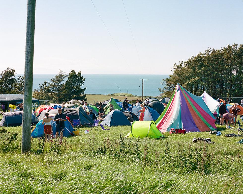 View of Gottwood Festival campsite. Photo taken by Rob Jones @hirobjones