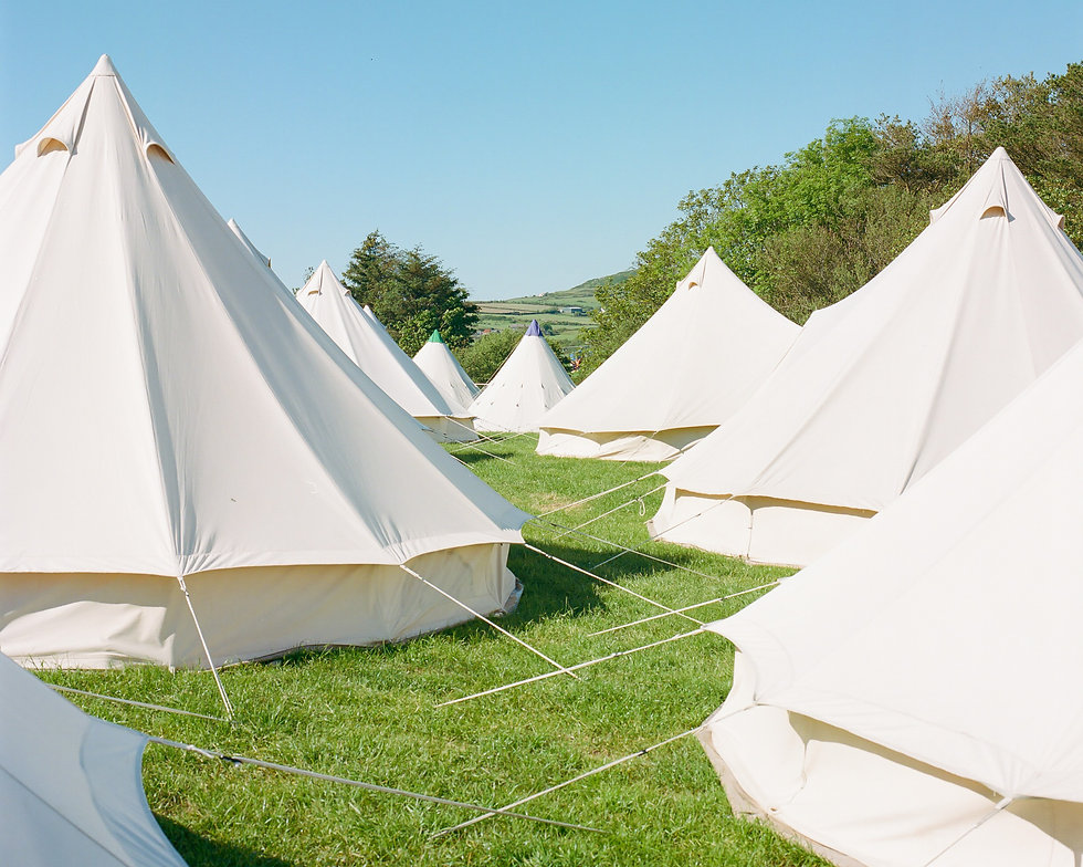 The campsite tents At Gottwood Festival. Events, Festival Anglesey, Music Photography. Photo taken by Rob Jones @hirobjones