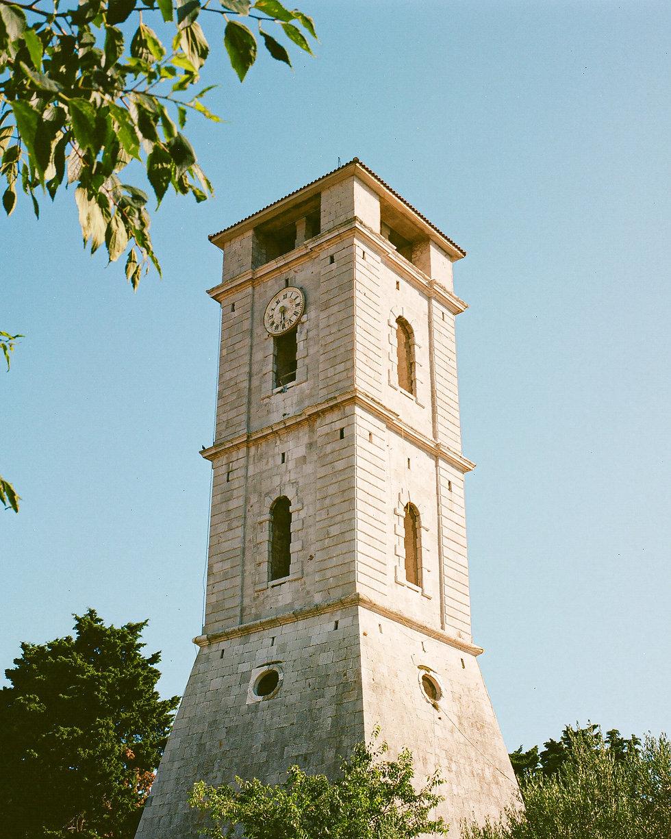 Tisno church tower At Love International Festival. Events, Festival Tisno, Music Photography. Photo taken by Rob Jones @hirobjones