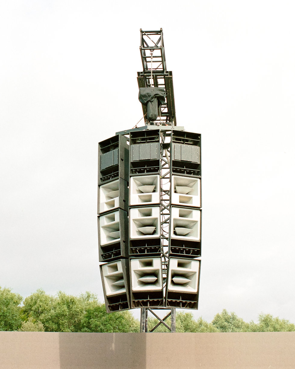 Funktion-One stack at main stage At Dekmantel Festival. Events, Festival Amsterdam, Music Photography. Photo taken by Rob Jones @hirobjones