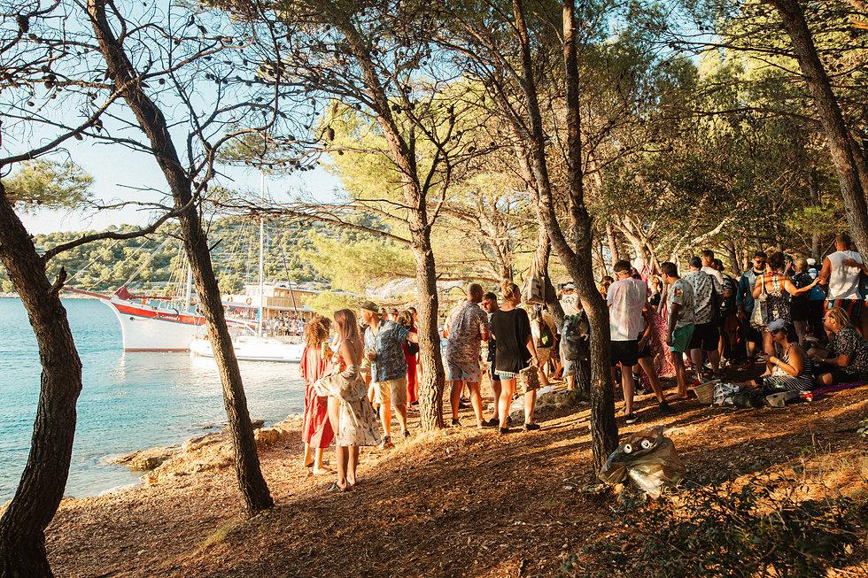 Secret island party At Love International Festival. Events, Festival Tisno, Music Photography. Photo taken by Rob Jones @hirobjones
