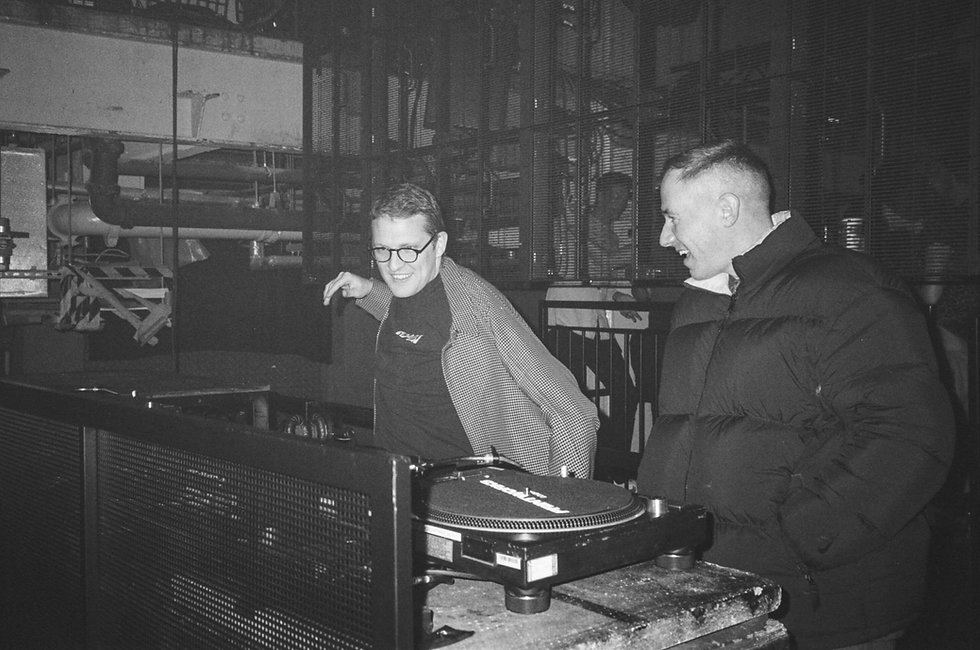 Floating Points and Benji B at Printworks London Glitterbox Defected Records. Events, Music Photography. Photo taken by Rob Jones @hirobjones 35mm film