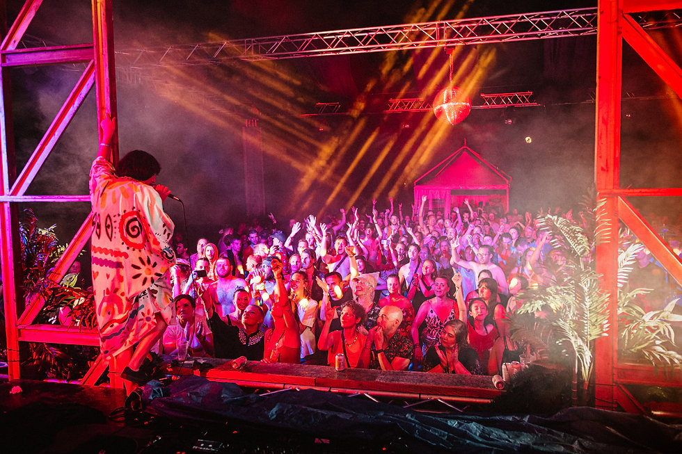 Crazy P on the Garden stage At Love International Festival. Events, Festival Tisno, Music Photography. Photo taken by Rob Jones @hirobjones