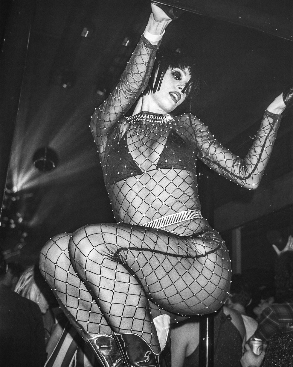 Dancer at Printworks London Glitterbox Defected Records. Events, Music Photography. Photo taken by Rob Jones @hirobjones 35mm film