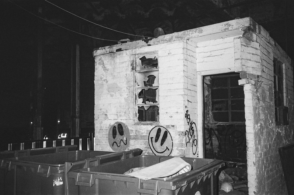 DJ At Warehouse Project Depot Mayfield Manchester. Events, Music Photography. Photo taken by Rob Jones @hirobjones on 35mm film