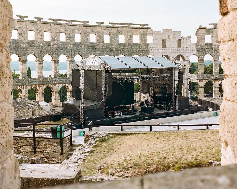 View of Pula Amphitheatre for Dimensions Festival Opening Concert 2019. Photo taken by Rob Jones @hirobjones