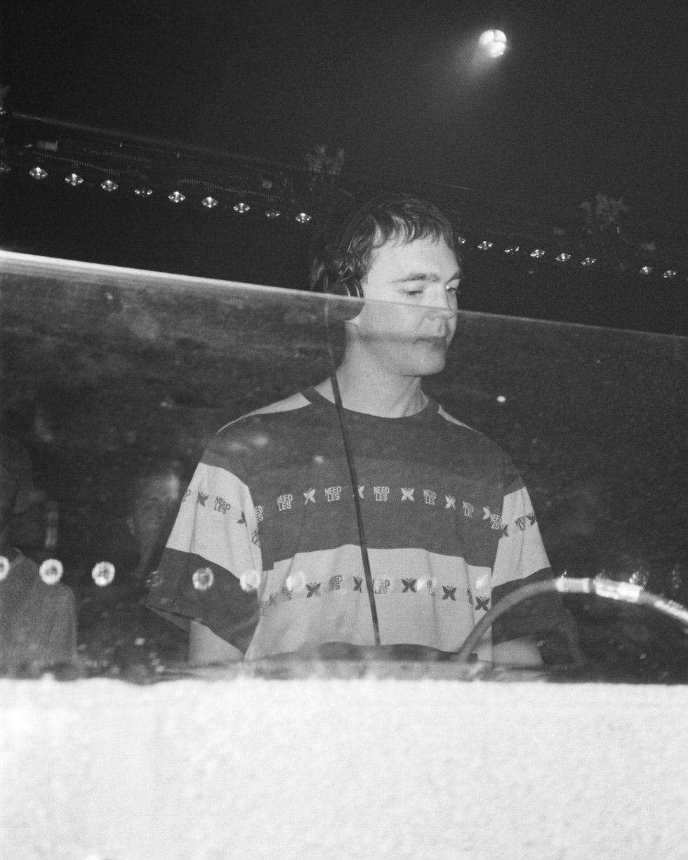 Ben UFO DJ At Warehouse Project Depot Mayfield Manchester. Events, Music Photography. Photo taken by Rob Jones @hirobjones on 35mm film
