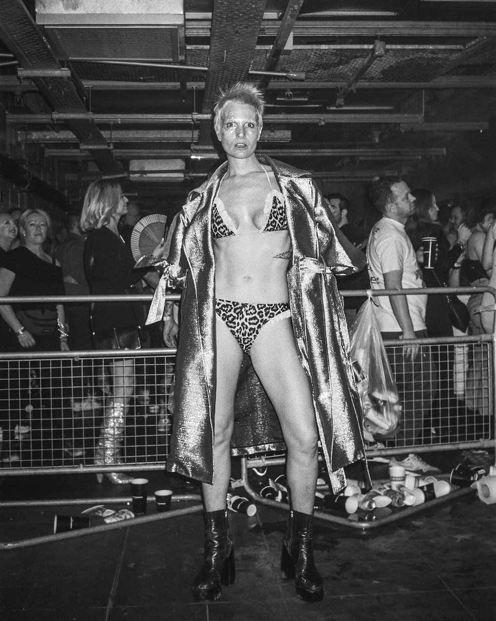 Dancers at Printworks London Glitterbox Defected Records. Events, Music Photography. Photo taken by Rob Jones @hirobjones 35mm film