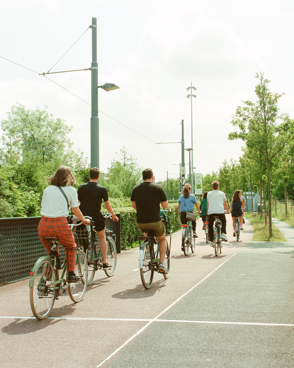 Cyclists At Dekmantel Festival. Events, Festival Amsterdam, Music Photography. Photo taken by Rob Jones @hirobjones