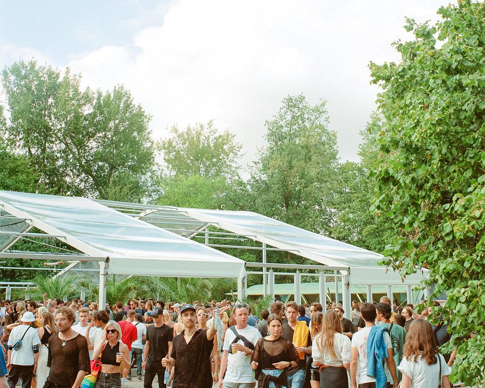 View of Dekmantel Festival, Greenhouse Stage. Amsterdamse Bos. Photo taken by Rob Jones @hirobjones