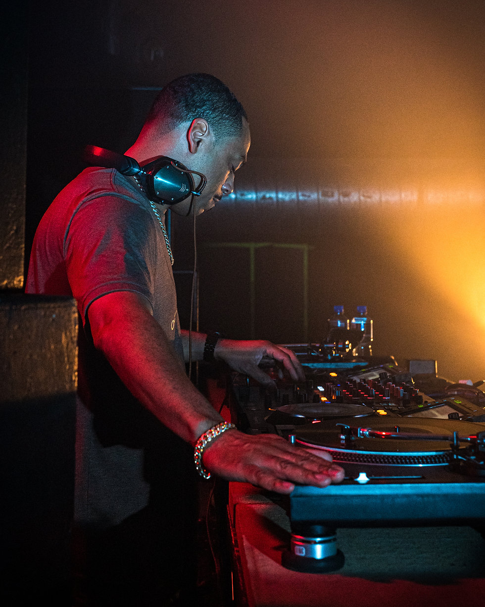 Omar S at Warehouse Project Store Street Manchester. Events, Music Photography. Photo taken by Rob Jones @hirobjones
