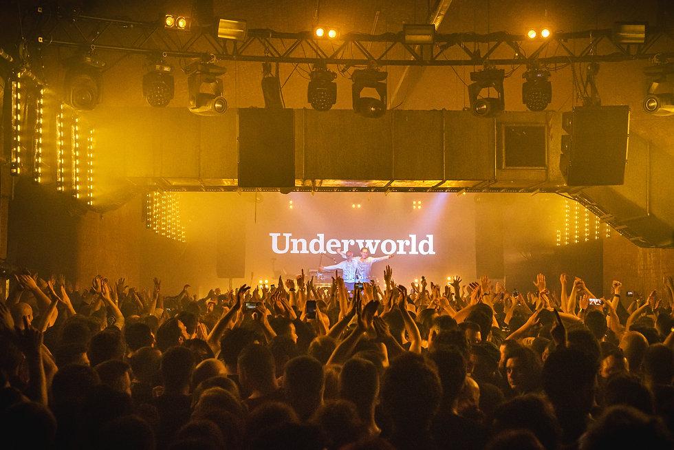 Underworld at Warehouse Project Store Street Manchester. Events, Music Photography. Photo taken by Rob Jones @hirobjones