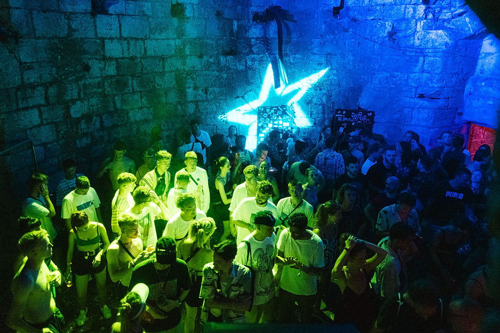 Fort Punta Christo Crowds in the Ballroom At Dimensions & Outlook Festival. Events, Festival Pula, Croatia, Music Photography. Photo taken by Rob Jones @hirobjones