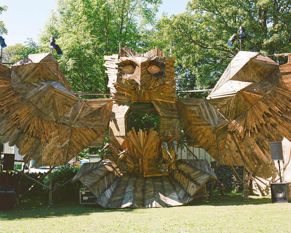 Mother Owl stage At Gottwood Festival. Events, Festival Anglesey, Music Photography. Photo taken by Rob Jones @hirobjones