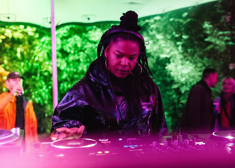 Josey Rebelle on the Walled Garden stage At Gottwood Festival. Events, Festival Anglesey, Music Photography. Photo taken by Rob Jones @hirobjones