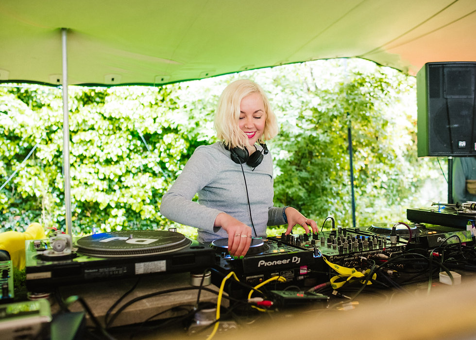 Jessica DJ on the Walled Garden stage At Gottwood Festival. Events, Festival Anglesey, Music Photography. Photo taken by Rob Jones @hirobjones