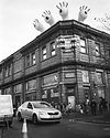 outside view At Warehouse Project Depot Mayfield Manchester. Events, Music Photography. Photo taken by Rob Jones @hirobjones on 35mm film