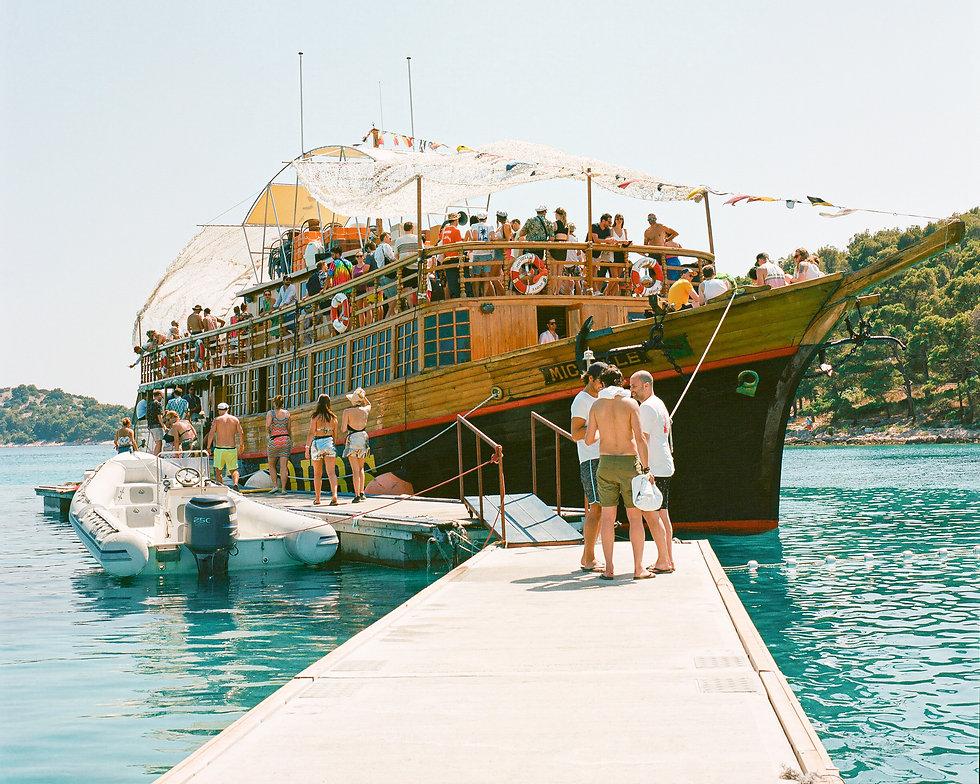 The Tisno bay boat party at Love International Festival. Events, Festival Tisno, Music Photography. Photo taken by Rob Jones @hirobjones