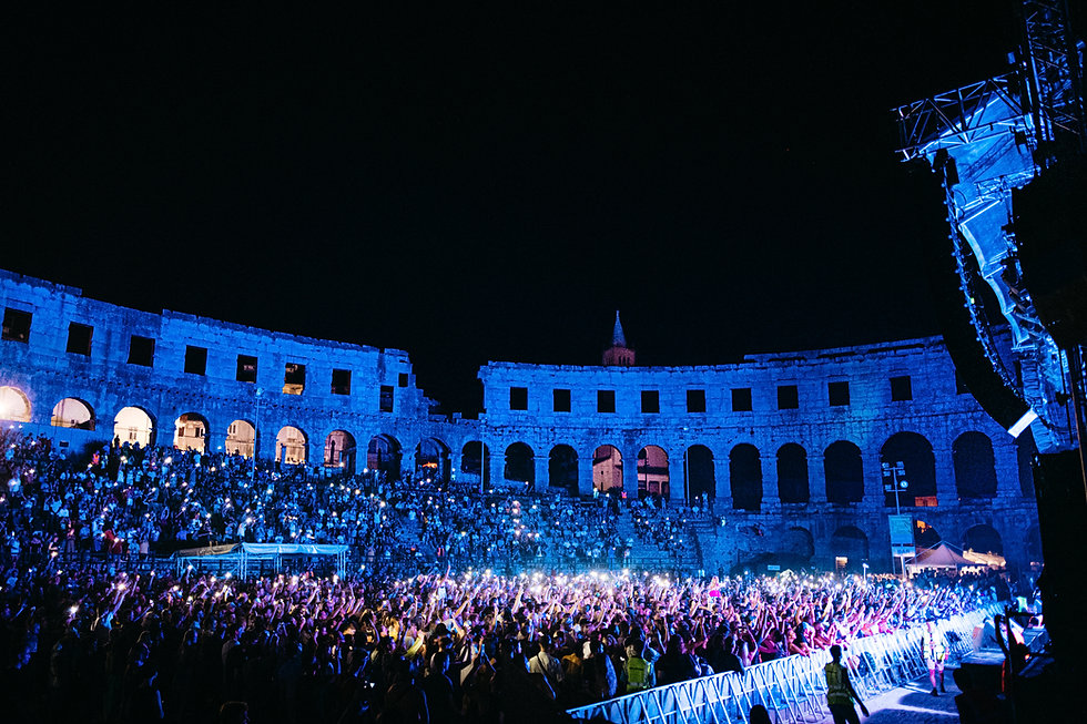 Fort Punta Christo Crowds in Pula Amphitheatre At Dimensions & Outlook Festival. Events, Festival Pula, Croatia, Music Photography. Photo taken by Rob Jones @hirobjones