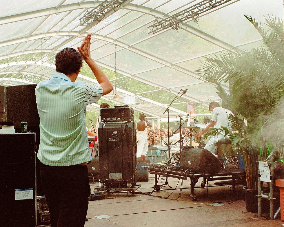 Backstage of Greenhouse stage At Dekmantel Festival. Events, Festival Amsterdam, Music Photography. Photo taken by Rob Jones @hirobjones
