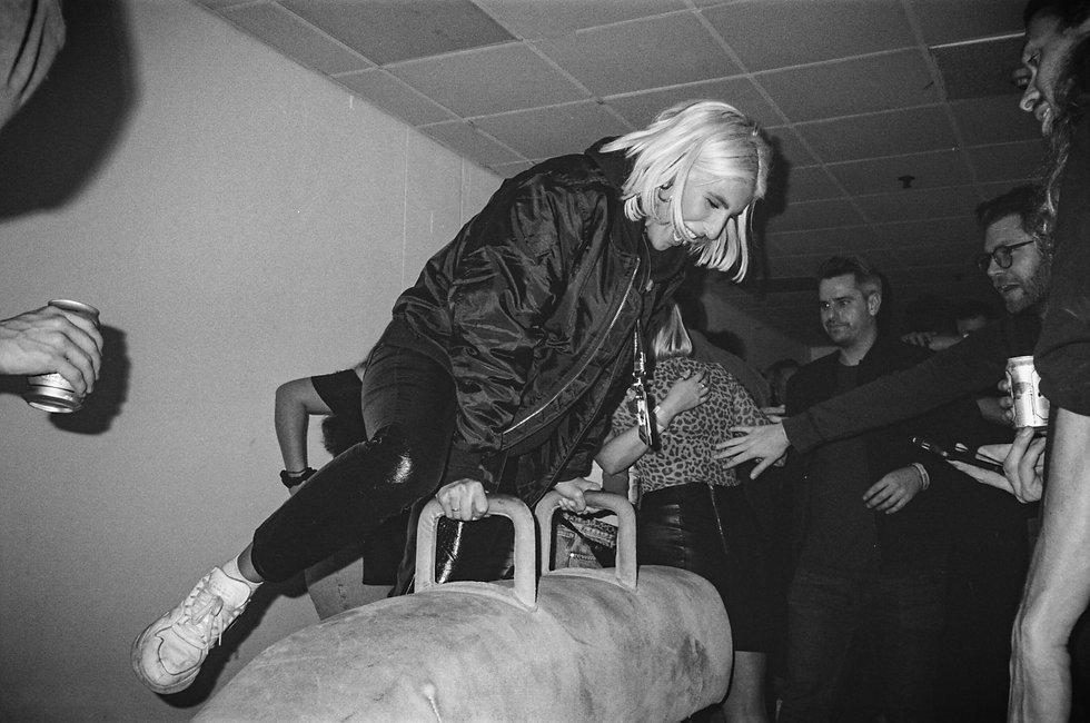 Katie backstage At Printworks London. Events, Music Photography. Photo taken by Rob Jones @hirobjones 35mm film