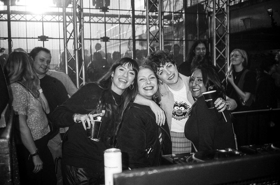 Annie Mac backstage At Printworks London. Events, Music Photography. Photo taken by Rob Jones @hirobjones 35mm film
