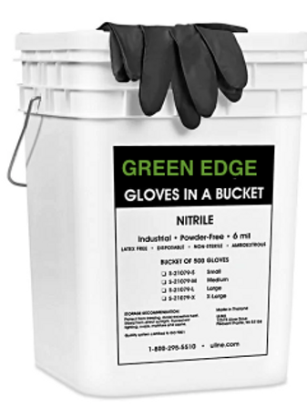 Nitrile Gloves - Bucket of 500