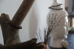 Mala beads have been used in Buddhism and Hinduism for centuries. Buddhists malas are often made up of different types of wood, such as sandalwood and rosewood.