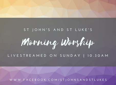 Livestreaming on Sunday 18th October - download the service sheet here