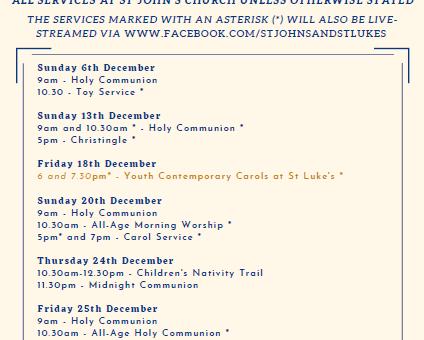 Advent and Christmas at St John's & St Luke's