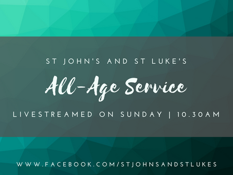 Sunday 11th April, All Age Morning Worship, follow along live