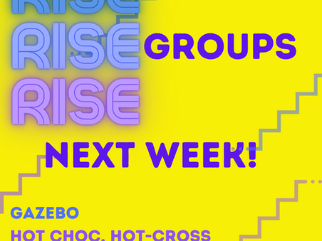 RISE groups are back - youth activity in the Easter school holiday