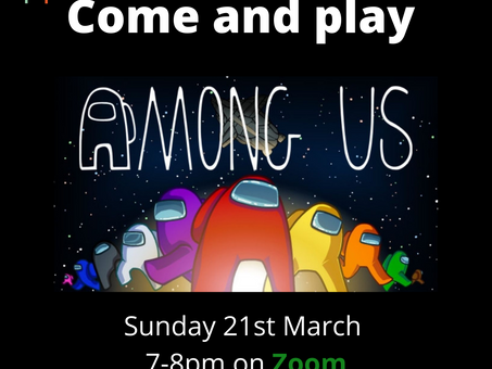 Youth Group Activity this Sunday - the last online session! (we hope)