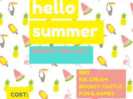 Ignite Summer Party - Sunday 18th July at St John's - year 6 upwards, come and join the fun