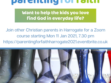 Parenting for Faith Course via Zoom - starting in January