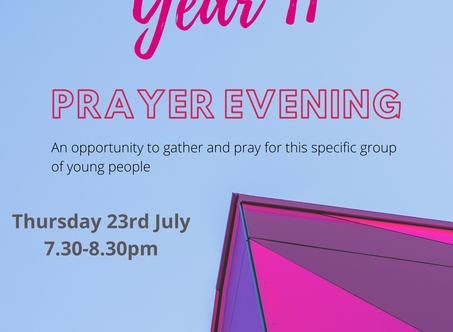 Year 11 Prayer Evening