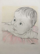 Baby Pencil Portrait