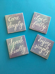 Inspirational Quote Coasters