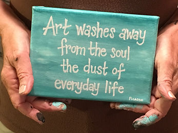 Canvas quote art